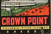 Very Rare Vintage Travel Decal Shows Historic Vista Point Building at Crown Point on The Columbia River in Oregon