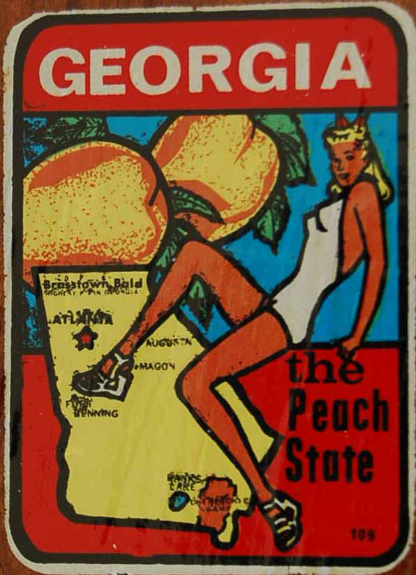 Vintage Travel Decal from Georgia the Peach State