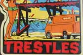 Vintage Travel Decal Honors Famous Trestles Surfing Spot in Orange County, California
