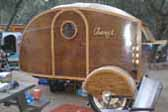 Amazing Home Built Wood Teardrop Trailer With Model A Axle and Wire Wheels