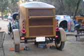 Stunning Custom Made Wood Teardrop Trailer Pulled by Model A Ford Roadster
